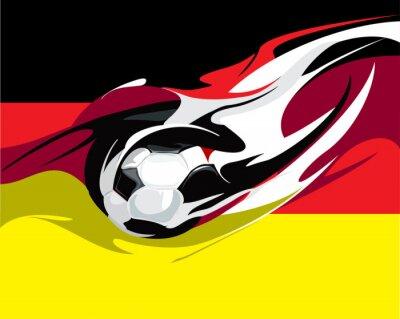Fototapete Deutscher Fußball