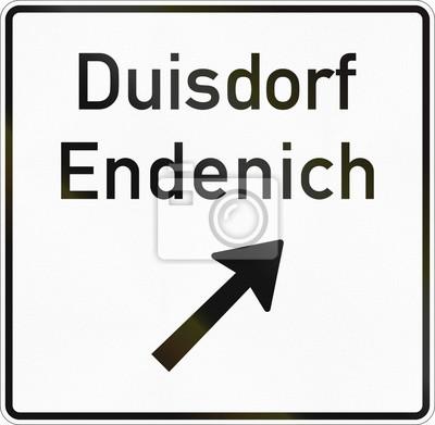 Deutsches Informationsverkehrsschild - Ausgang der Nichtstraßenstraße