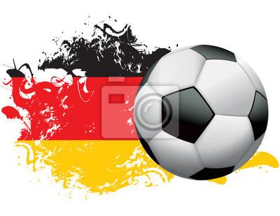 Deutschland Fussball Grunge Design-