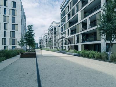 Fototapete Deutschland, Hessen, Region Frankfurt Am Main, Offenbach, Moderne  Architektur, Hafen