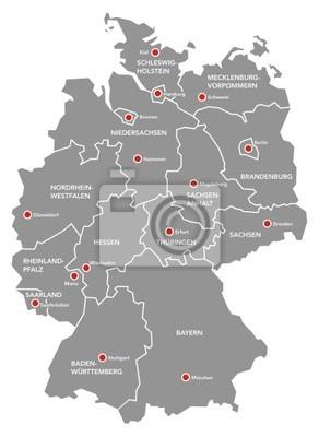Deutschlandkarte Fototapete Fototapeten Hannover Sachsische