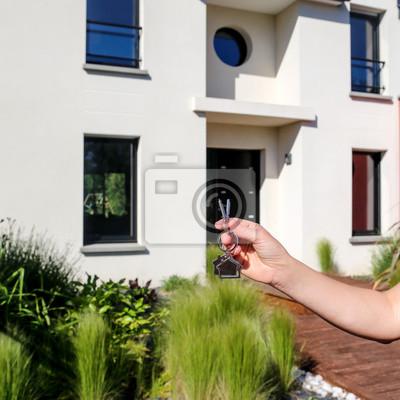 Devenez propriétaire, remise des clés, maison moderne 03 fototapete ...