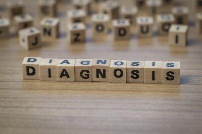 Diagnose in Holzwürfel geschrieben