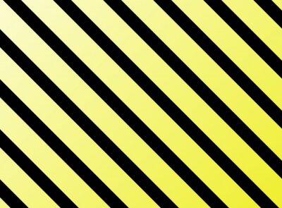 Fototapete Diagonale Streifen gelb schwarz