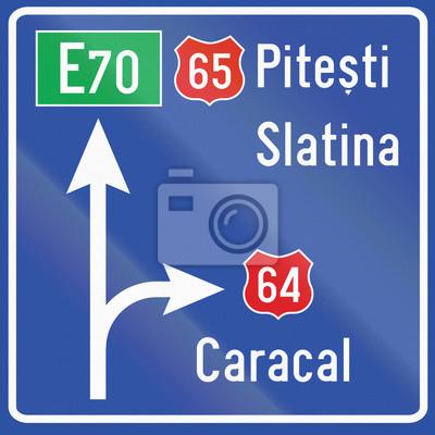 Diagrammschild in Rumänien verwendet