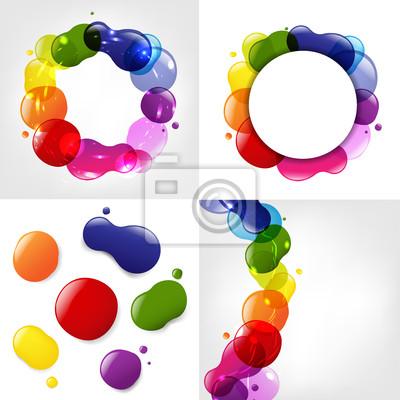 Dialog Ballon und Farbe Neon Blobs Set