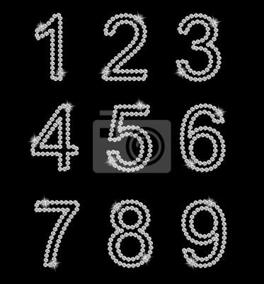 Diamant Alphabet Vektor-Illustration