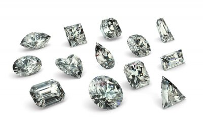 Fototapete Diamant-Cuts