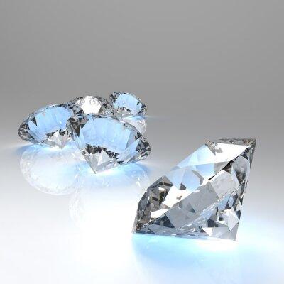 Fototapete Diamanten 3d in der Zusammensetzung