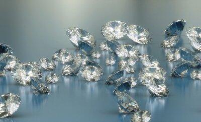 Fototapete Diamanten