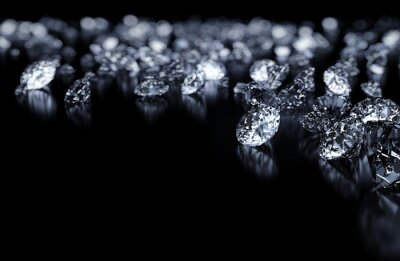 Fototapete Diamanten Hintergrund