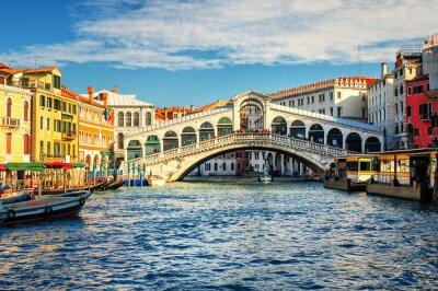 Fototapete Die Canal Grande und Rialto Brücke, Venedig, Italien