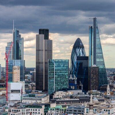 Fototapete Die City of London am Nachmittag