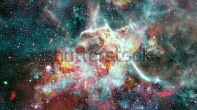 Fototapete Die Explosionssupernova. Heller Sternnebel. Ferne Galaxie. Silvester Feuerwerk. Abstraktes Bild. Elemente dieses Bildes von der NASA eingerichtet.