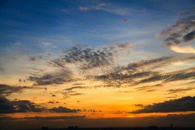 Fototapete Die Farbe der Dämmerung Himmel