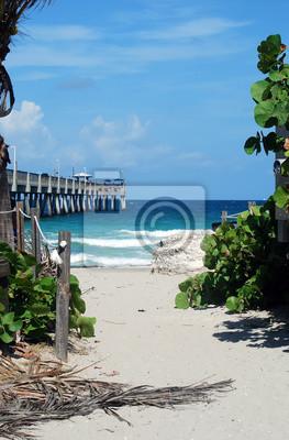 Die Fishing Pier In Dania Beach Florida Fototapete Fototapeten