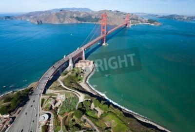 Fototapete Die Golden Gate Bridge in der Bucht von San Francisco