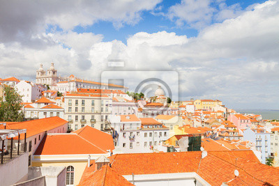 Fototapete Die Graca Quartal, Lissabon, Portugal