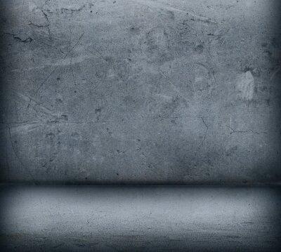 Fototapete Die graue Betonmauer und Boden close up