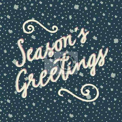 Die grüße der jahreszeit hand gezeichnete frohe weihnachten und ...