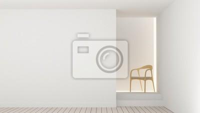 Fototapete Die Innenraum Leer Raum Entspannen Raum Möbel Und Hintergrund Dekoration  Minimal   3D Rendering