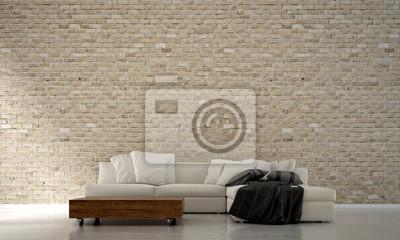 Die Interiordesign Von Minimalen Wohnzimmer Design Und Blauen