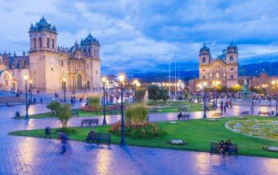 Fototapete Die Kathedrale in Cusco, Peru