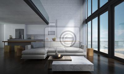Die Lounge Und Doppel Raum Wohnzimmer Und Küche Innenarchitektur