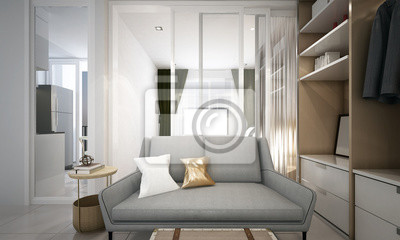Fototapete Die Moderne Kleine Wohnzimmer Innenarchitektur Wohnung Und  Wohnung