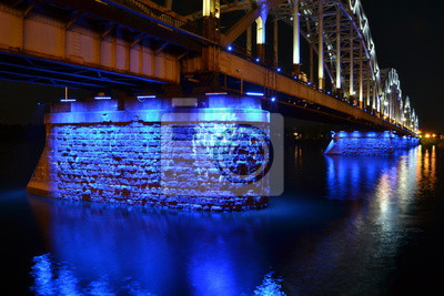 Fototapete Die Rigaer Eisenbahnbrücke