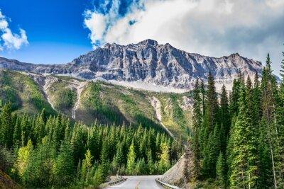 Fototapete Die Straße im Yoho-Nationalpark in Kanada