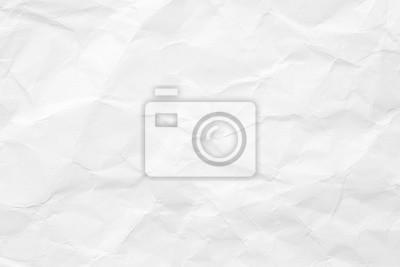 Fototapete Die Textur des weißen Papiers ist zerknüllt. Hintergrund für verschiedene Zwecke.
