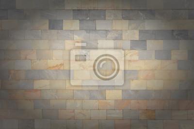 Fototapete Die Wand Ist Aus Marmor Grau Und Orange Fliesen. Schöne Stein  Textur. Leerer