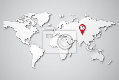 die Welt Ortspunkt