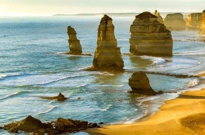Fototapete Die zwölf Apostel bei Sonnenuntergang entlang Great Ocean Road, Victoria -