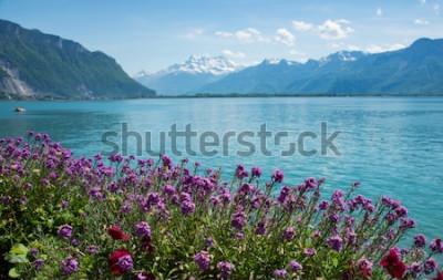 Fototapete Dies ist ein Foto von Landschaft Berg, Schweiz