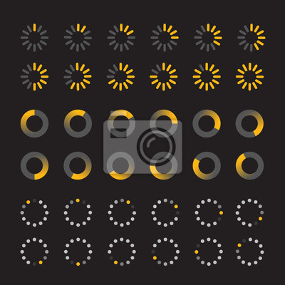 Different slyles of web loaders vector collection. Flat design e