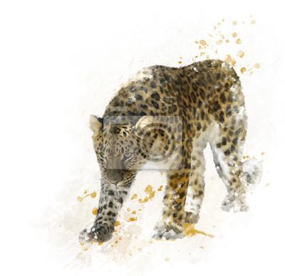 Digitale Malerei von Leopard