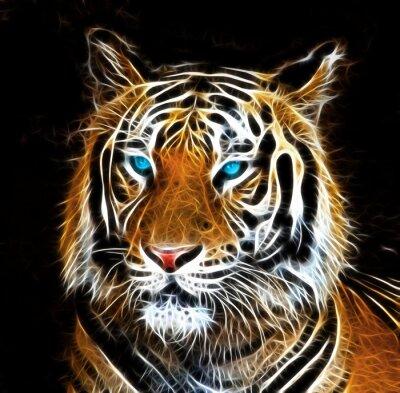 Fototapete Digitale Zeichnung eines Tigers