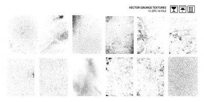 Fototapete Dirty Grunge Textures Vector Set