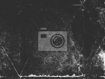 Fototapete Distress old cracked concrete vector texture. Black and white grunge background. Stone, asphalt, plaster, marble.