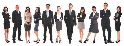 Fototapete Diverse Asian business people