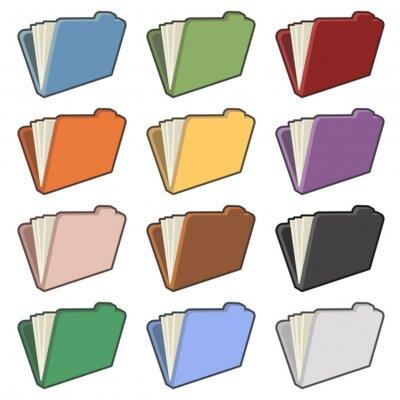 Dokument Ordner in verschiedenen Farben