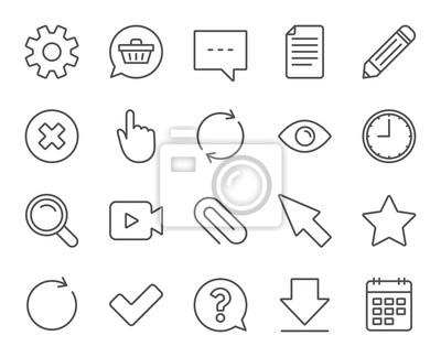 Dokument Zeit Und Kalender Zeilensymbole Frage Chat Und
