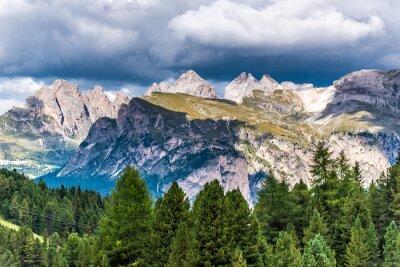 Fototapete Dolomiten Italien - Gröden - Passo Sella