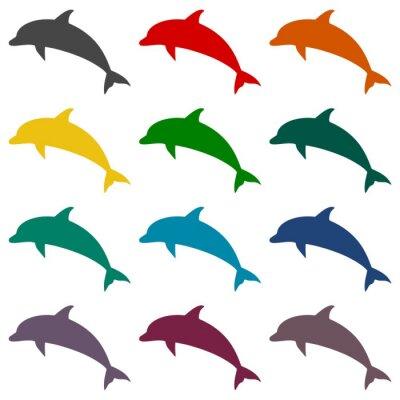 Fototapete Dolphin Symbole gesetzt