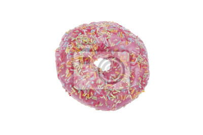 Donut mit rosa Glasur isoliert