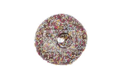 Donut mit Schokoladenglasur isoliert
