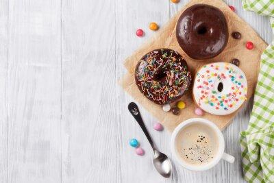 Fototapete Donuts und Kaffee