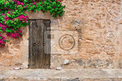 Awesome Fototapete Dorf Haus Mediterran Rustikal Mit Holz Tr Stein Mauer  Und With Mediterrane Mauer